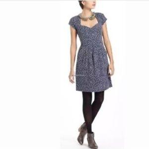 Deletta Blue Caledonia Cut Out Dress